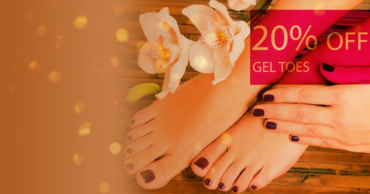 Gel Toes Beauty Treatment Offers Salon Burnley
